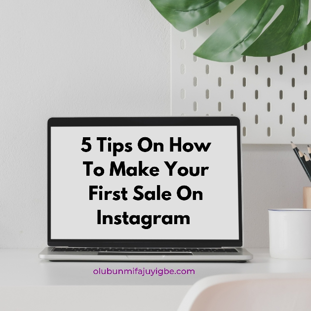 Make your first sale on Instagram